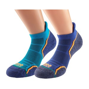 1000 Mile Run Socklet Mens Sports Socks - Twin Pack