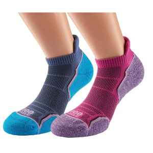 1000 Mile Run Socklet Womens Sports Socks - Twin Pack