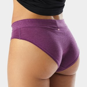 Ronhill Womens Brief - Grape Juice Marl/Hot Coral
